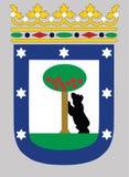 Vector Illustration des Madrid-Stadtwappens, Spanien lizenzfreie abbildung