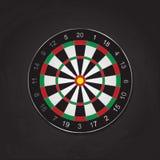 Vector Illustration des realistischen Bogenschießenzielbrettes, schwarzes BAC Stockfoto