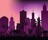 Sonnenuntergang in der Stadt Stockfotografie