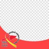 Vector Illustration des Welthepatitis-Tages für Fahnen- und Plakatsocial media-Schablone Stockbild