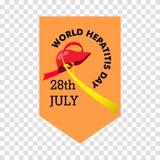 Vector Illustration des Welthepatitis-Tages für Fahnen- und Plakatsocial media-Schablone Stockfotografie
