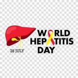 Vector Illustration des Welthepatitis-Tages für Fahnen- und Plakatsocial media-Schablone Stockbilder