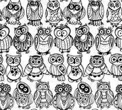 Vector Illustration des wilden Totemtieres - Eule mit Rosen Stockfotografie