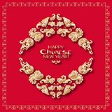 A vector illustration of design for Chinese New Year celebration. Vector illustration Royalty Free Stock Photo