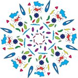 Vector illustration design for cloths or paper Royalty Free Stock Images