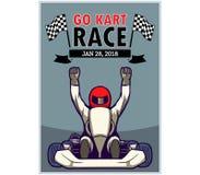 Go Kart Race Poster. Vector illustration design for go kart poster Stock Images