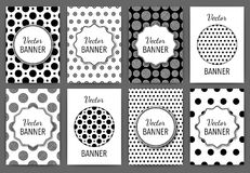 Vector illustration design invitations. Black and white templates Royalty Free Stock Image