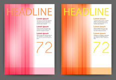 Vector illustration of a design magazine template with stripes Stock Image