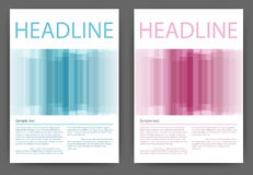 Vector illustration of a design magazine template with stripes Royalty Free Stock Photos
