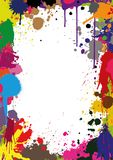 Vector illustration of a design with painting splatters Stock Image