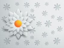 Design with paper flower Royalty Free Stock Photo