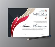 Vector template for certificate or diploma vector illustration