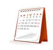 Vector illustration of desktop calendar Royalty Free Stock Image