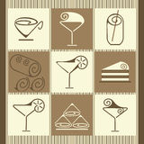 Vector illustration of dessert. Useful web icons and design elements about restaurants Stock Photo
