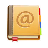 Address book icon. Vector illustration of detailed address book icon isolated on white background stock illustration