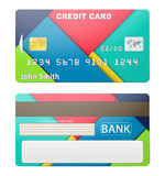 Vector illustration of detailed credit card Stock Photography