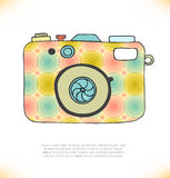 Vector illustration of detailed isolated icon of camera Stock Photography