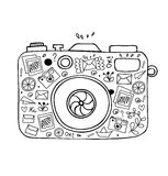 Vector illustration of detailed isolated image of camera Royalty Free Stock Image