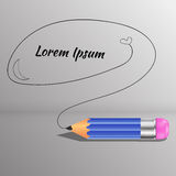 Vector illustration of detailed pencilwith text place eps 10 Stock Photos