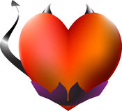 Vector illustration of devil heart. Stock Images