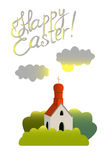 Vector illustration devoted to  Easter. The vector illustration devoted to the Easter Royalty Free Stock Images
