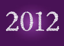 Vector illustration of diamond 2012 year. Vector illustration of 2012 year formed from diamonds Royalty Free Stock Photo