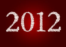 Vector illustration of diamond 2012 year. On red background Royalty Free Stock Photography