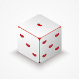 Dice with red hearts. Stock Photo