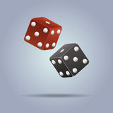 Vector illustration of dices. Vector colorful illustration of dices Royalty Free Stock Photos