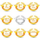 Anniversary Celebration Badge Stock Photo