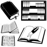 Black book icons Stock Images