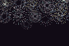 Vector illustration with different colorful fireworks Royalty Free Stock Image