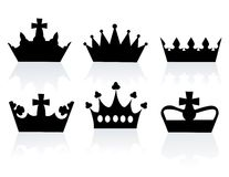 Vector illustration of different crowns Royalty Free Stock Image