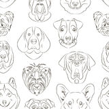 Vector illustration of different dogs breed. Pattern. Vector illustration, EPS 10 Royalty Free Stock Photos