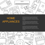 Vector illustration of different home appliances. Stock Photos