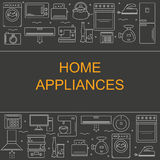 Vector illustration of different home appliances. Royalty Free Stock Photography