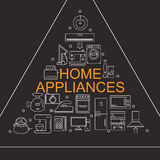 Vector illustration of different home appliances. Banner for your company or store. Stock Photography