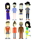 Vector illustration of different  people characters, set collection. Stock Photos