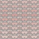 Vector illustration of different shades of pink and grey cheerful pigs faces vector illustration
