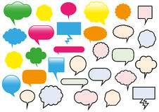 Vector illustration of different text balloons. royalty free illustration