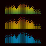 Vector illustration of digital equalizer Royalty Free Stock Photos