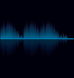 Vector illustration of digital equalizer. For your business presentations Royalty Free Stock Photography