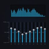 Vector illustration of digital equalizer Stock Images