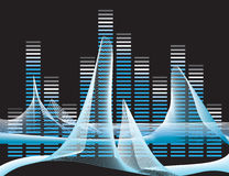 Vector illustration of digital equalizer Royalty Free Stock Photography
