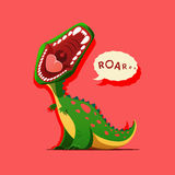 Vector illustration of dinosaur is roaring Stock Photos