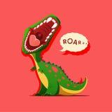 Vector illustration of dinosaur is roaring Stock Photos