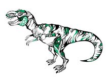 Vector illustration of a dinosaur T-rex royalty free stock photography