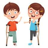 Vector Illustration Of Disabilities. Eps 10 vector illustration