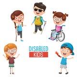 Vector Illustration Of Disabilities. Eps 10 stock illustration