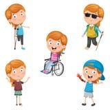 Vector Illustration Of Disabilities. Eps 10 royalty free illustration